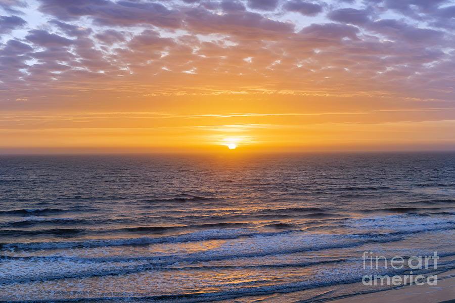 Ocean Photograph - Sunrise Over Atlantic Ocean by Elena Elisseeva