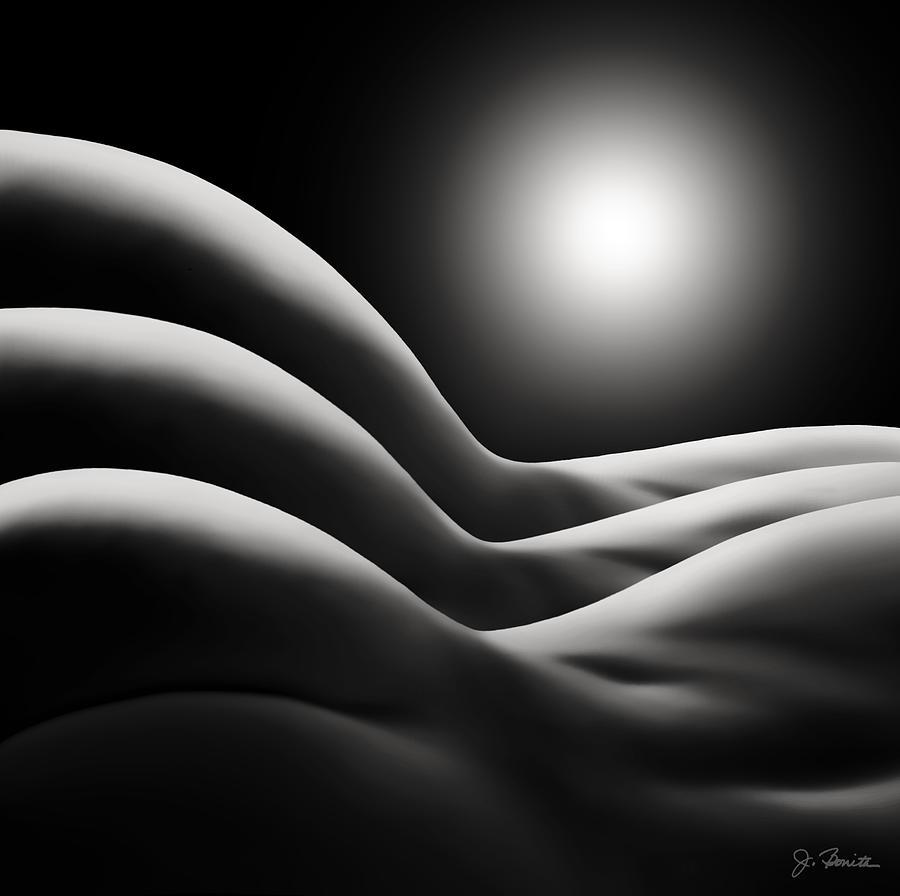 Nude Digital Art - Sunrise Over Bodywaves by Joe Bonita