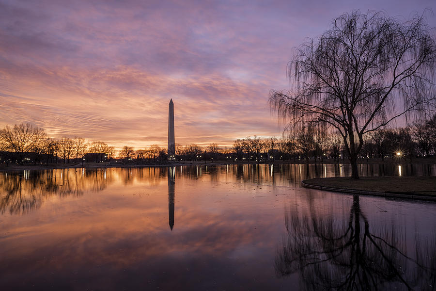 Alexandria Photograph - Sunrise Over Constitution Gardens by Michael Donahue