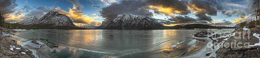 Landscape Photograph - Sunrise Over Deep Emerald Ice by Royce Howland