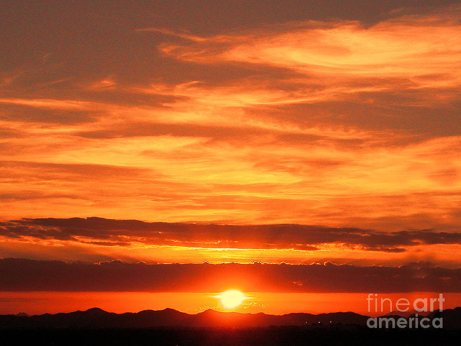 Clouds Photograph - Sunrise Over Jeddah by Graham Taylor