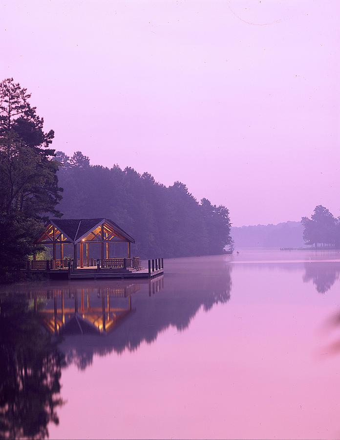 Lake Photograph - Sunrise Over Lake Jeanette. by Robert Ponzoni