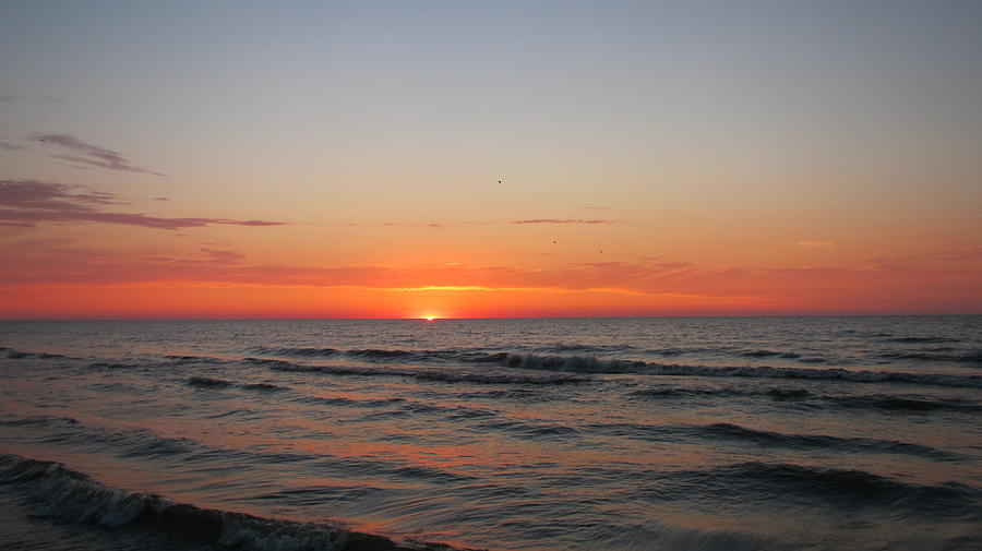 Sky Photograph - Sunrise Over Lake Michigan by Denise   Hoff