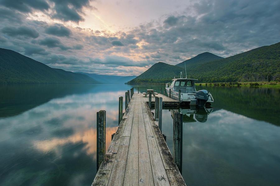 Nelson Lakes National Park Photograph - Sunrise Over Lake Rotoroa by Racheal Christian