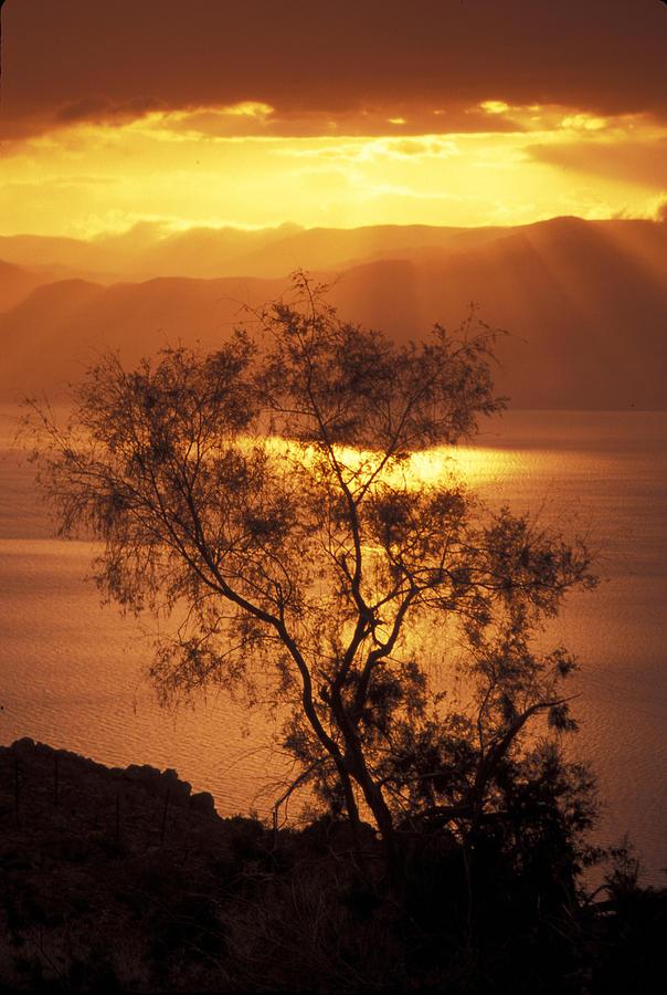Dead Sea Photograph - Sunrise Over Mount Nebo In Jordan by Richard Nowitz