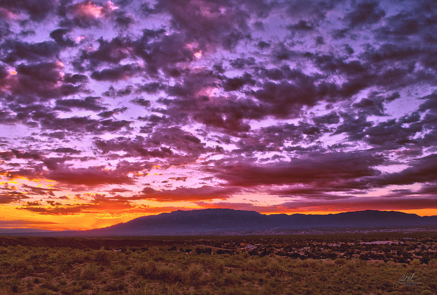 Sunrise over sandia mountains photograph by richard estrada landscape photograph sunrise over sandia mountains by richard estrada sciox Choice Image