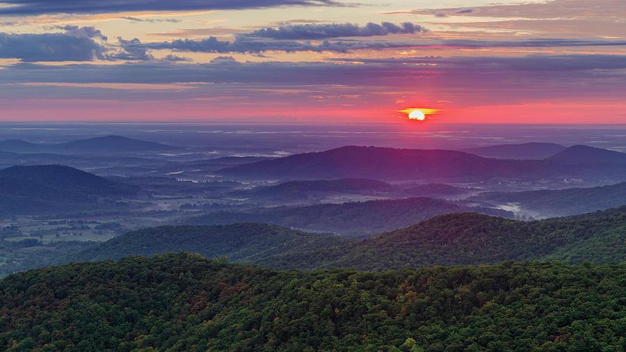 Sunrise Over the Blue Ridge by Lori Coleman
