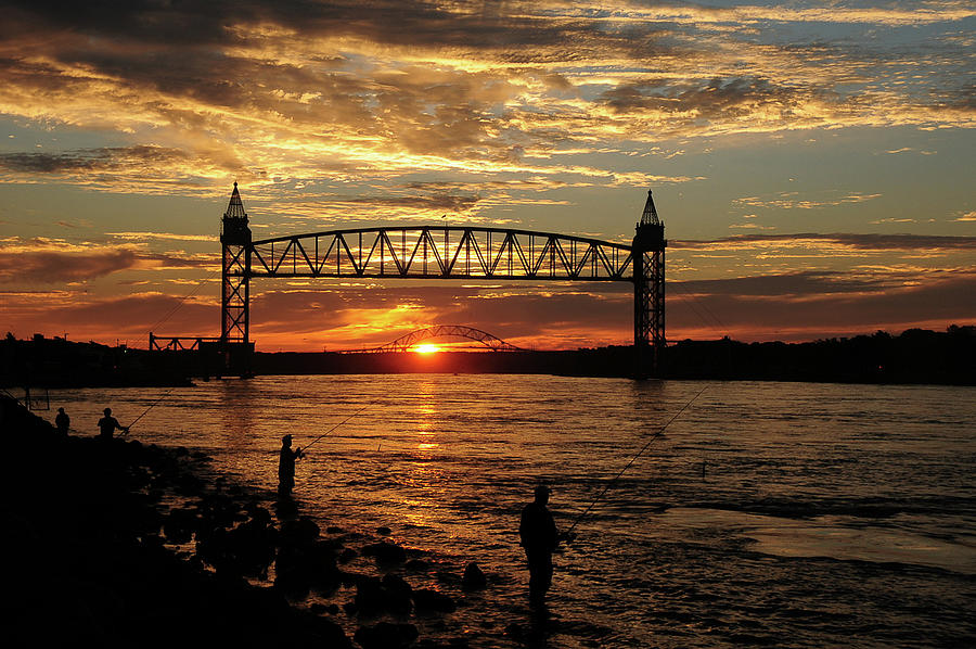 Cape Cod Canal Photograph - Sunrise Over The Canal by Nancy Marshall