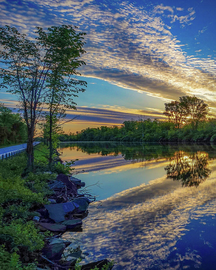 Sunrise Over The Champlain Canal Photograph by Kendall McKernon