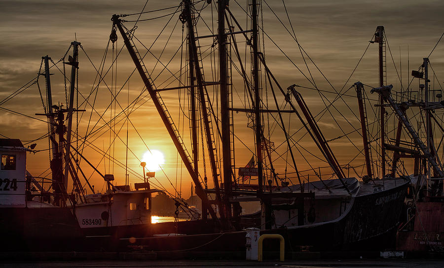 John Hoey Photograph - Sunrise Over The New Bedford Harbor by John Hoey