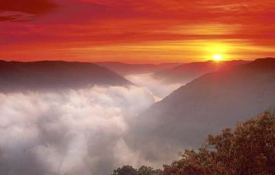Sunrise Photograph - Sunrise Over The New River Gorge National Park - West Virginia by Steve Shaluta