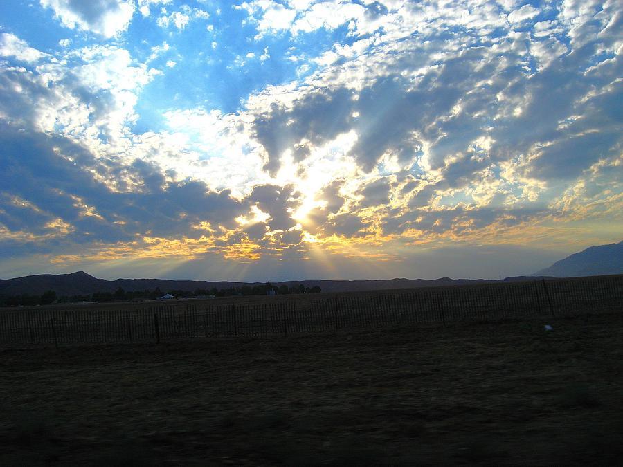 San Gorgonio Pass Photograph - Sunrise Over The Pass by Mitch Hino