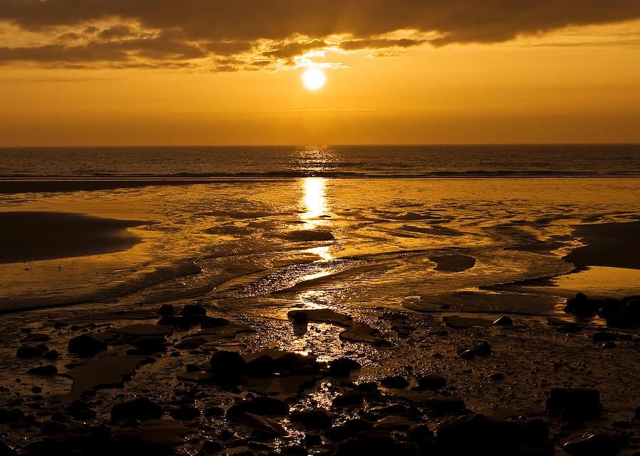 Dawn Photograph - Sunrise Over The Sea by Svetlana Sewell