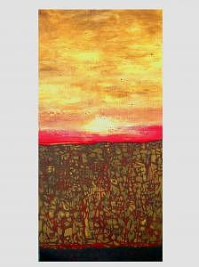 Red Clouds Painting - Sunrise Over The Sudan by Teresa Carter