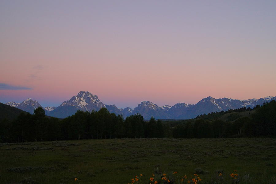 Grand Teton National Park Photograph - Sunrise Over The Tetons by Beth Collins