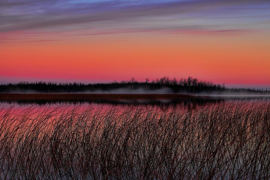 Sunrise Over Thunder Lake Photograph
