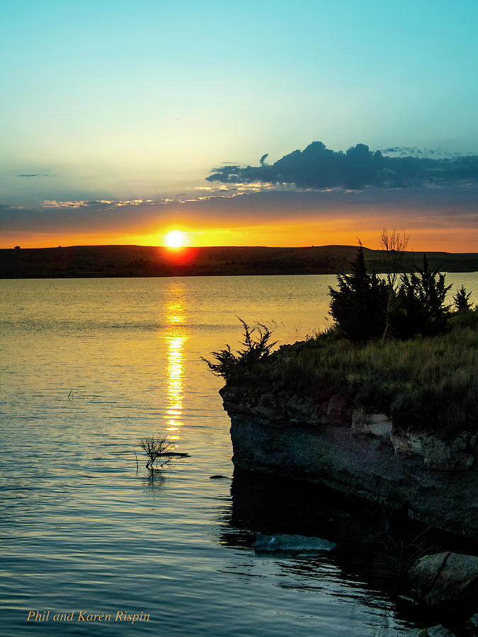 Sky Photograph - Sunrise Over Wilson Lake by Philip Rispin