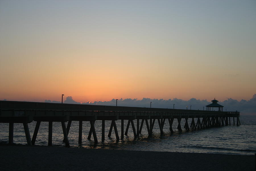 Landscape Photograph - Sunrise Pier by Dennis Curry