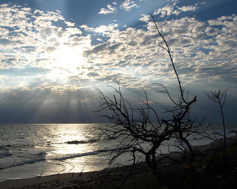 Sunrise Prayer On The Beach Photograph by Allan  Hughes