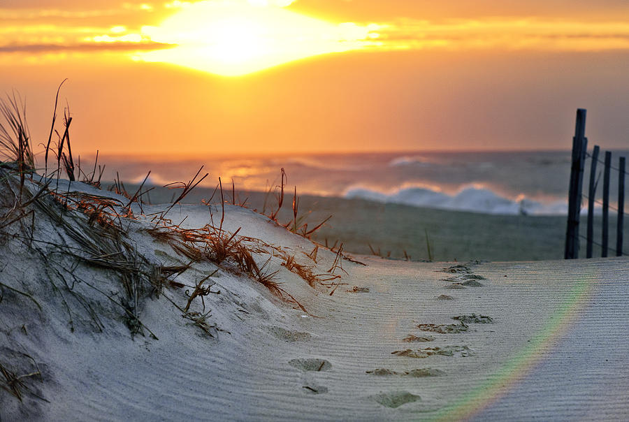 Sunrise Photograph - Sunrise Rainbow by Vicki Jauron