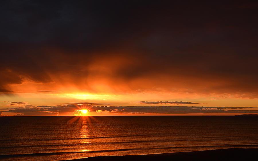 Sunrise Photograph - Sunrise Rays by Nancy Landry