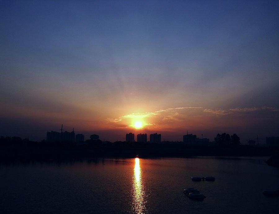 City Photograph - Sunrise Reflection by Atullya N Srivastava