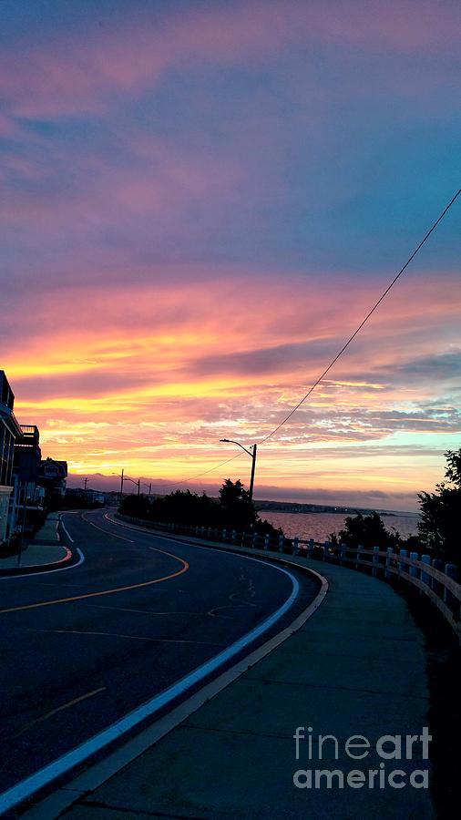 Sunrise Photograph - Sunrise Road by Christine Chepeleff