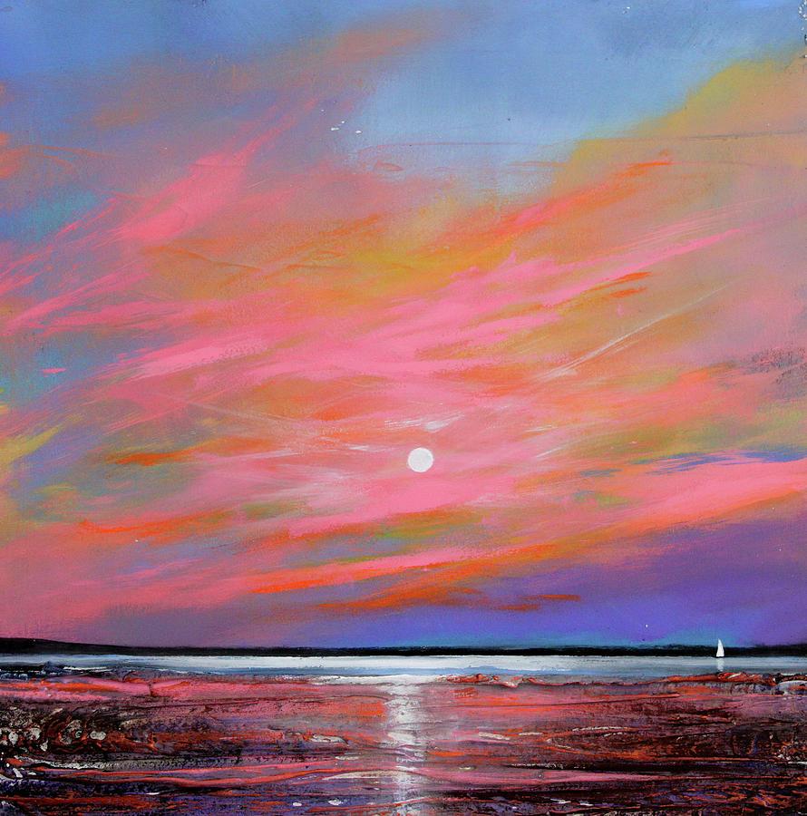 Sunrise Painting - Sunrise Sail by Toni Grote