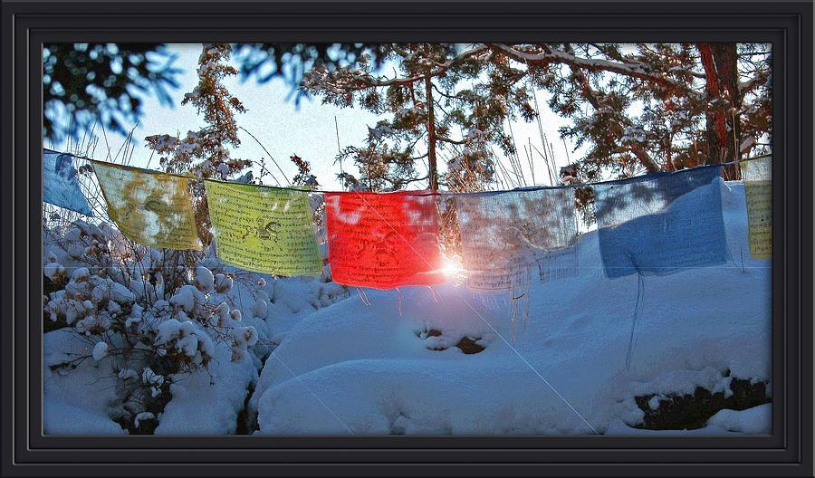 Prayer Flag Photograph - Sunrise by Shenoah  Sullivan
