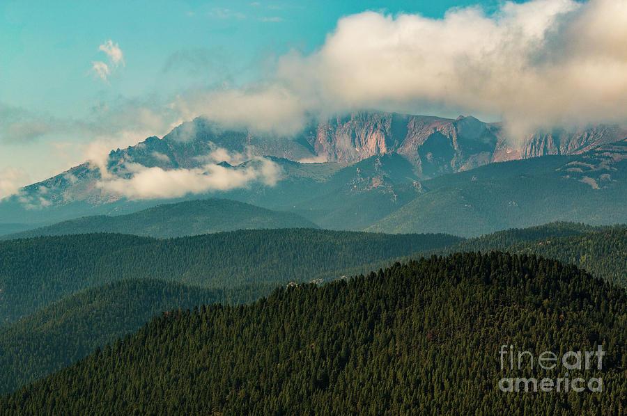 Sunrise Storm On Pikes Peak Photograph