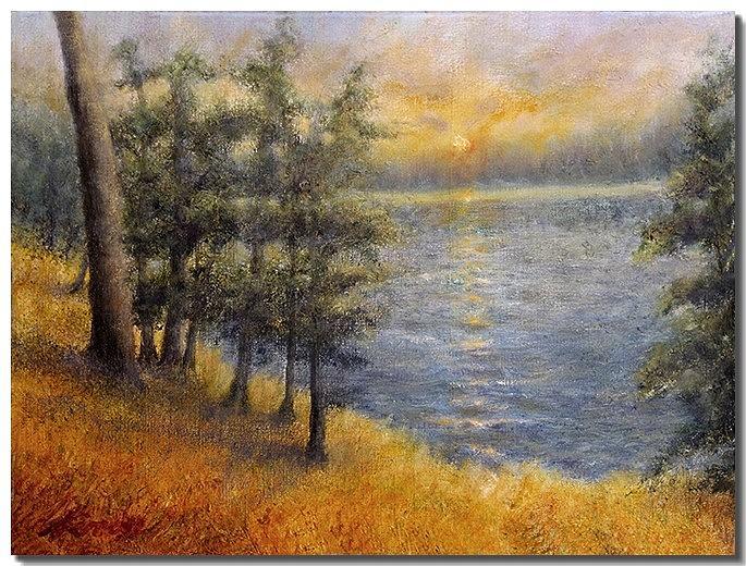 Water Painting - Sunrise Sunset by Liron Sissman