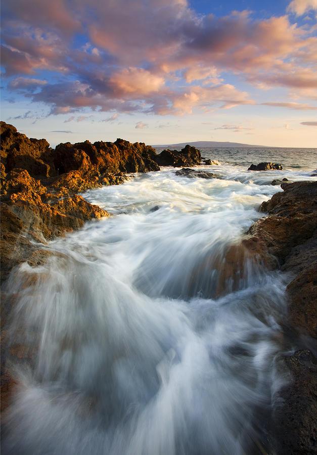 Hawaii Photograph - Sunrise Surge by Mike  Dawson