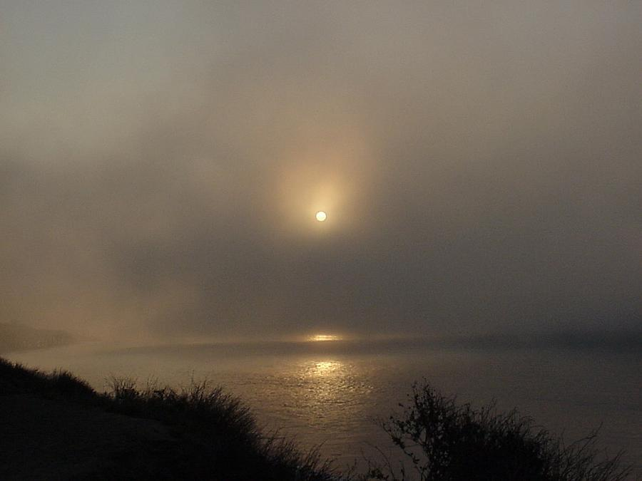Sunrise Photograph - October 26, 2007 Sunrise Thru The Smoke At Malibu by Darlene DeMille