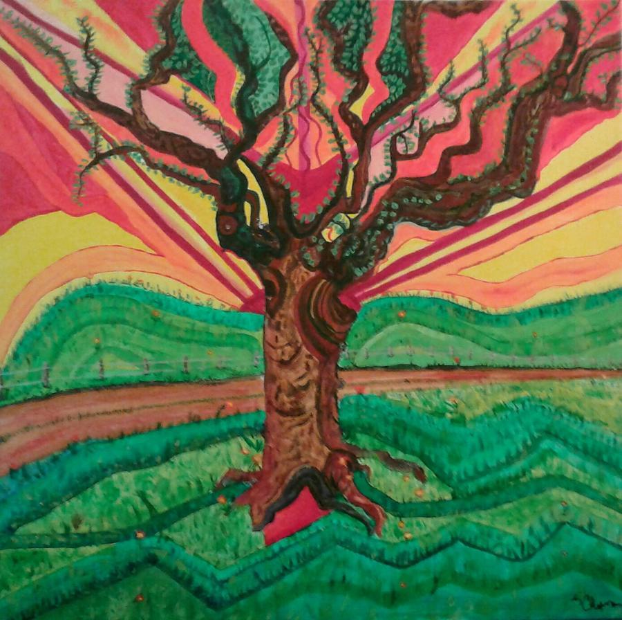 Painting Painting - Sunrise Treeair by Elizabeth Chapman