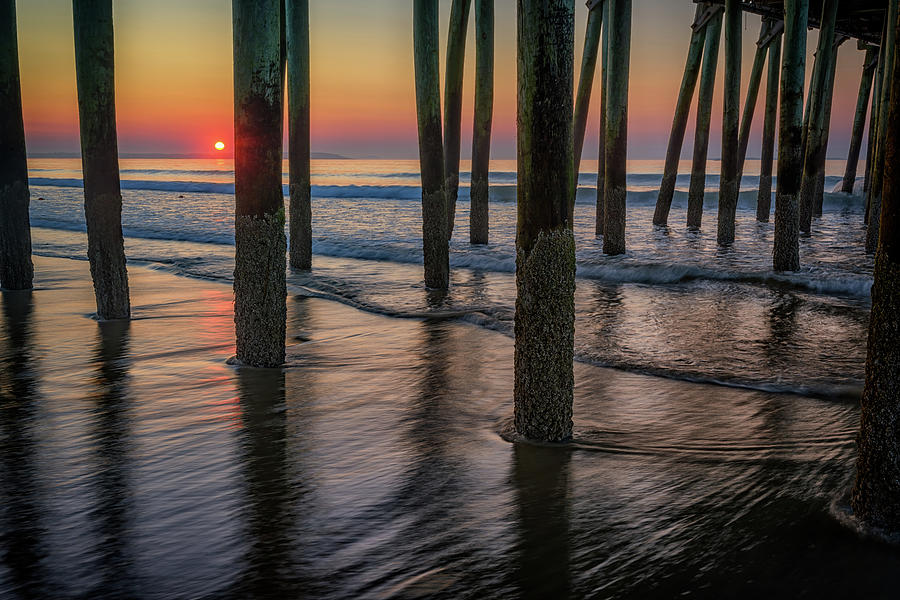 Old Orchard Beach Photograph - Sunrise Under The Pier by Rick Berk