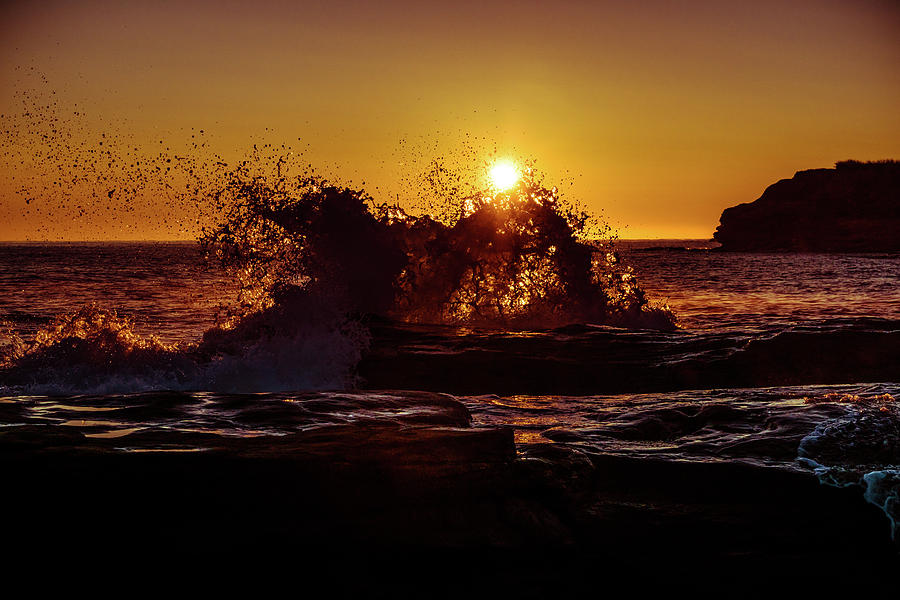 Sunrise Waves Crash  by Chris Bordeleau