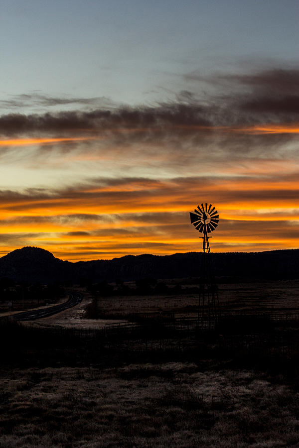 Sunrise Windmill 12-25-2015 Photograph