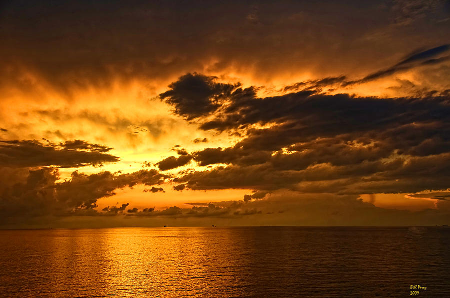 Landscape Photograph - Sunrise With A Rain Shower by Bill Perry