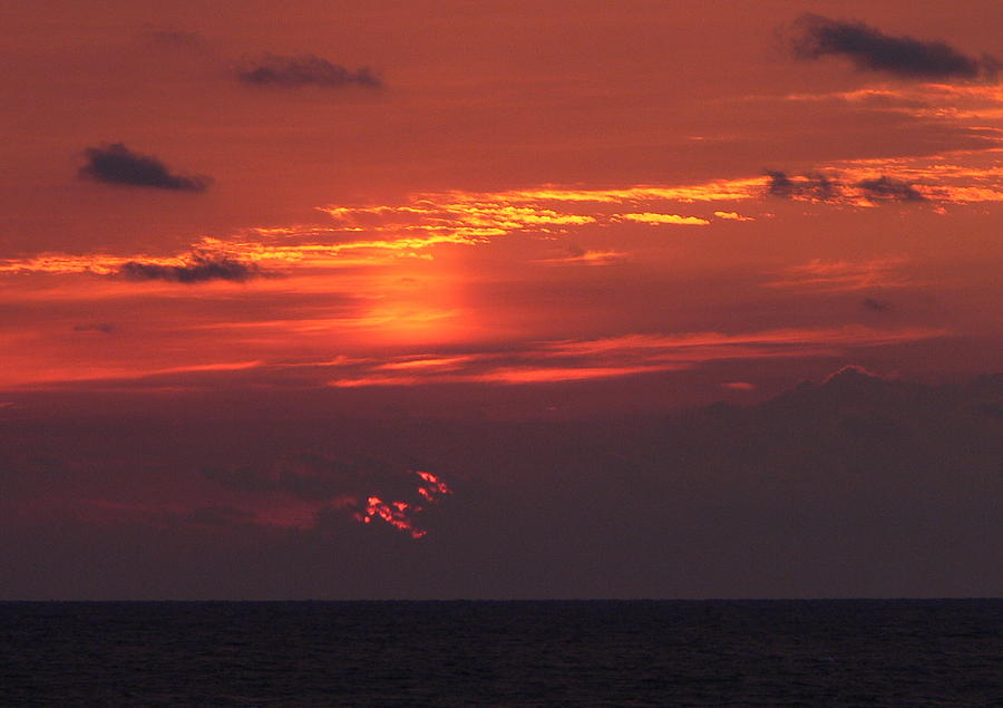 Sun Photograph - Sunrising Out Of Clouds by Tom LoPresti