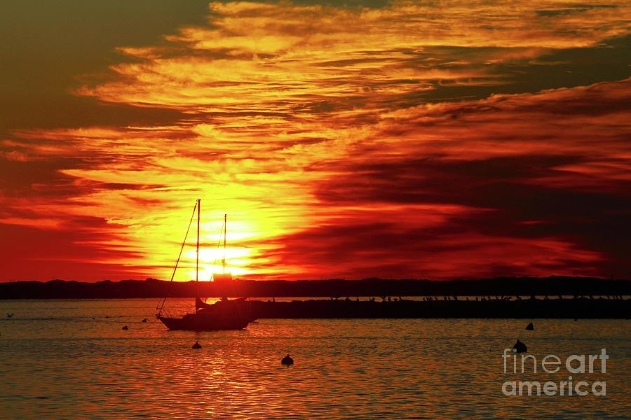 Suns Up Provincetown Pier 4 Photograph by Gregory E Dean