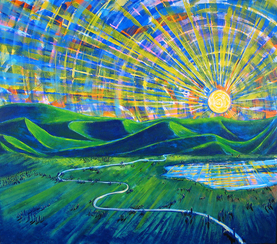 Sun Painting - Sunscape by Rollin Kocsis