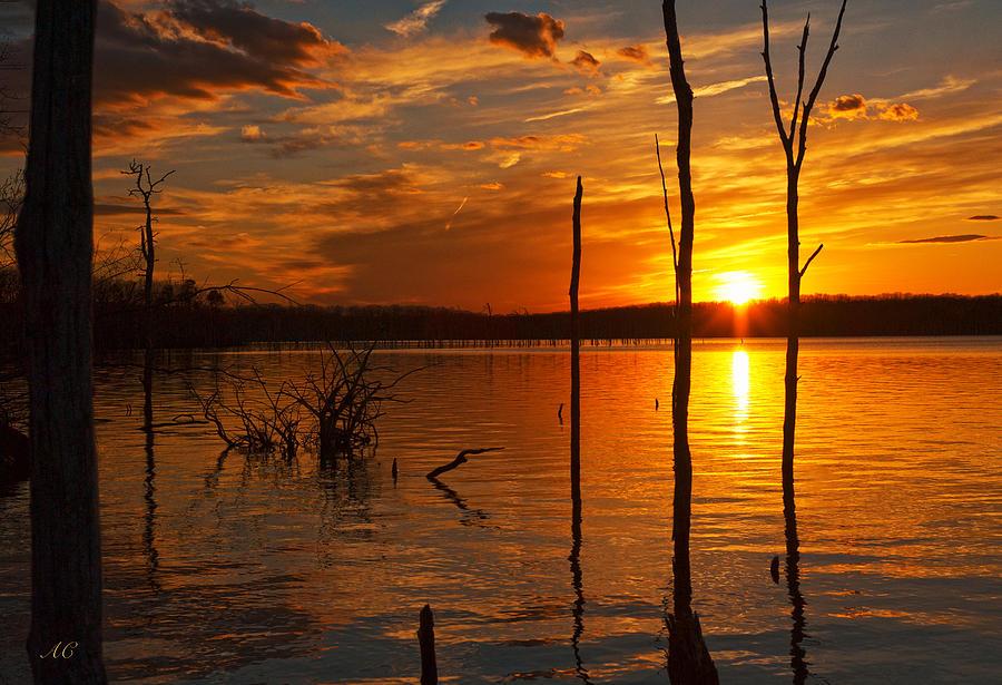Sunset Photograph - sunset @ Reservoir by Angel Cher