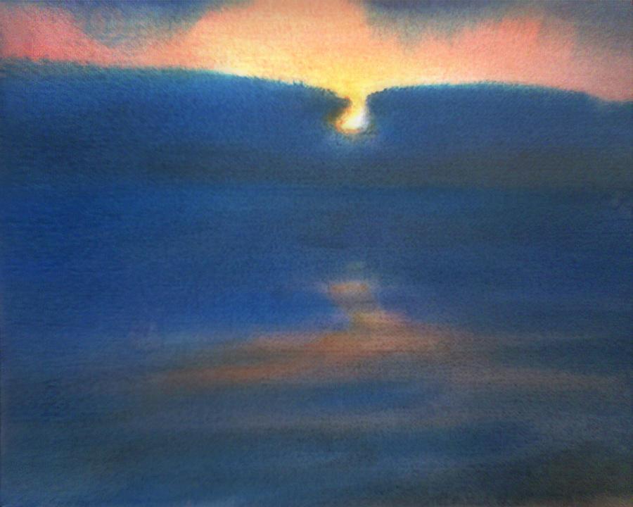 Sea Painting - Sunset 1 by Valeriy Mavlo