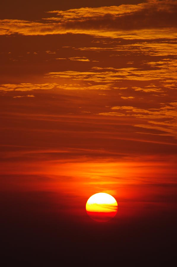 Sun Photograph - Sunset 13 by Don Prioleau
