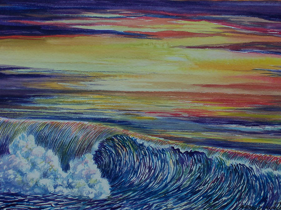 Sunset 3 Painting by Arnold Hurley