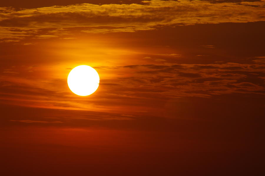 Sun Photograph - Sunset 7 by Don Prioleau