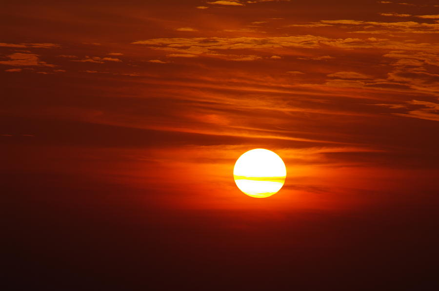 Sun Photograph - Sunset 8 by Don Prioleau