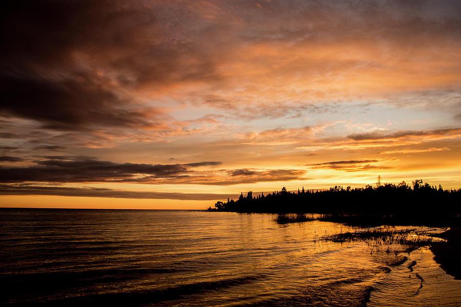 Lake Michigan Photograph - Sunset by Adam Murray
