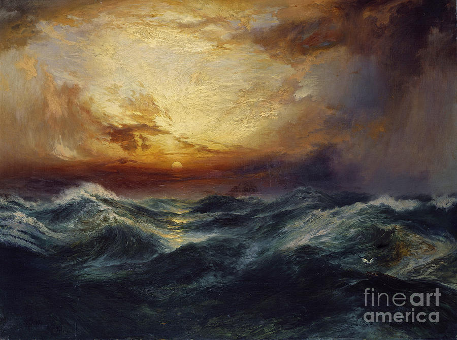 Moran Painting - Sunset After A Storm by Thomas Moran