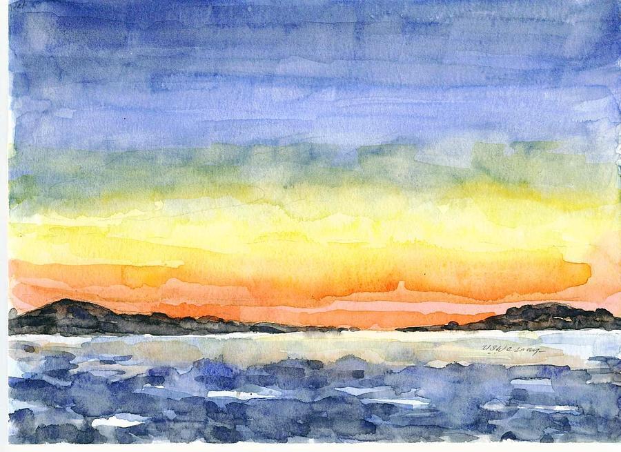 Landscape Painting - Sunset Alaska by Ujjagar Singh Wassan